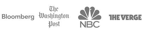 Media Logos (Bloomberg, Washington Post, NBC, and The Verge)